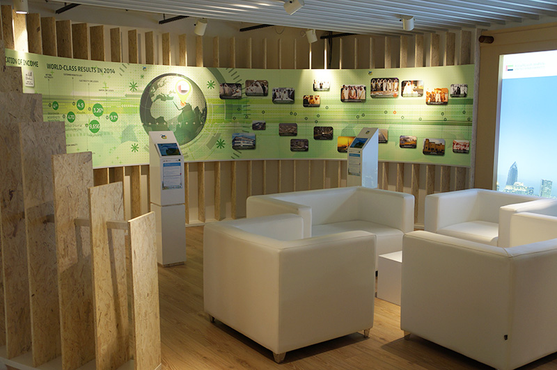Exhibition booth with augmented reality - Expo Milano 2015, Milan