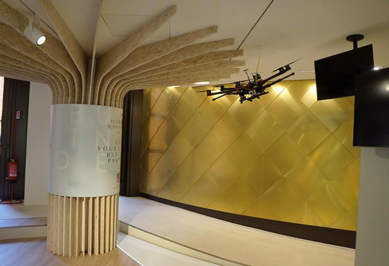 Drone on the Etasilat custom built exhibition booth - Expo Milano 2015, Milan