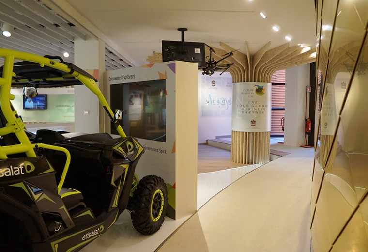 Etisalat exhibition booth at the Expo Milano 2015 - Milan, UAE Pavilion