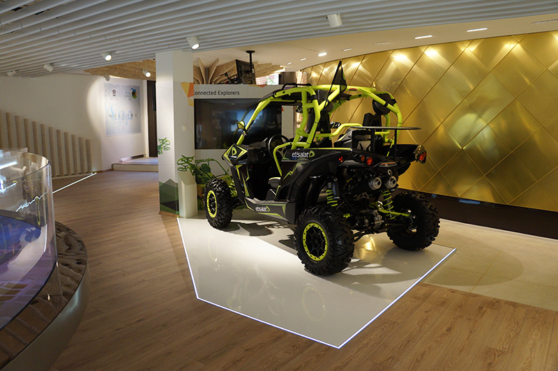 Etisalat co-exhibitor at Expo Milano 2015 exhibition which took place in Milan, UAE Pavilion
