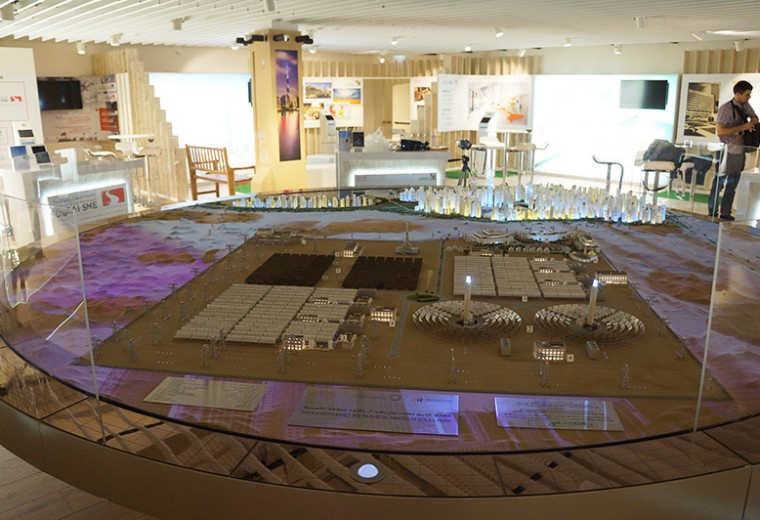 Model of development at Expo Milano 2015 exhibition Milan