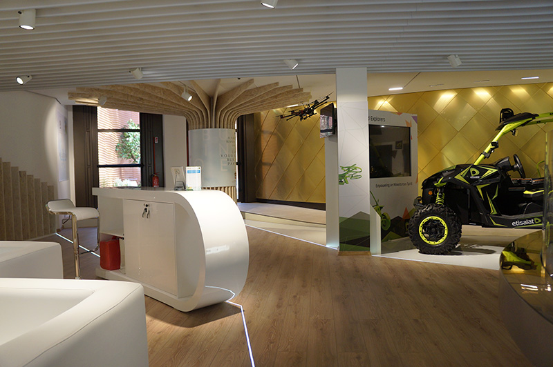 Etisalat co-exhibitor at Expo Milano 2015 exhibiton. Milan, UAE Pavilion