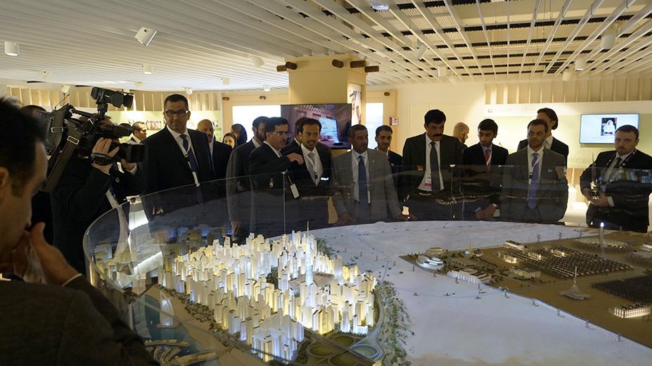 Expo Milano 2015, Milan, Dubai Pavilion - model of developments