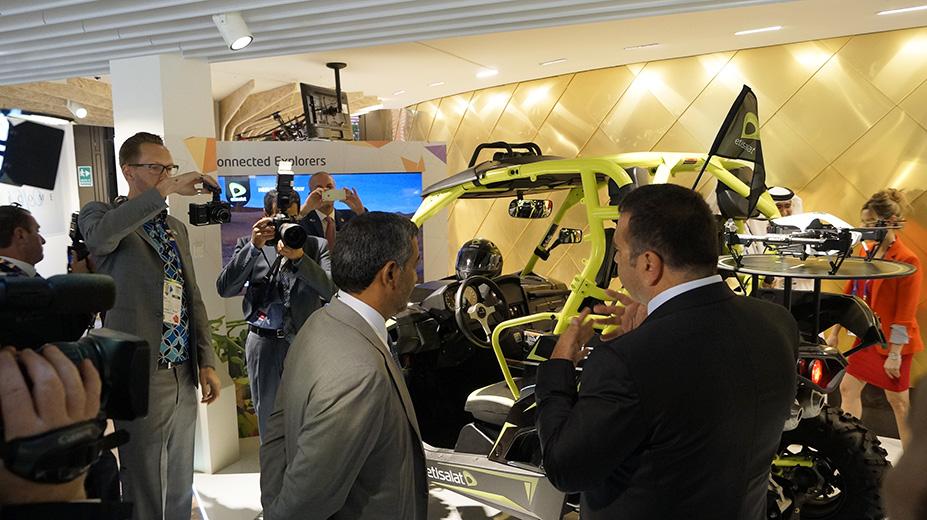 Etisalat co-exhibitor at Expo Milano 2015, Milan, UAE Pavilion