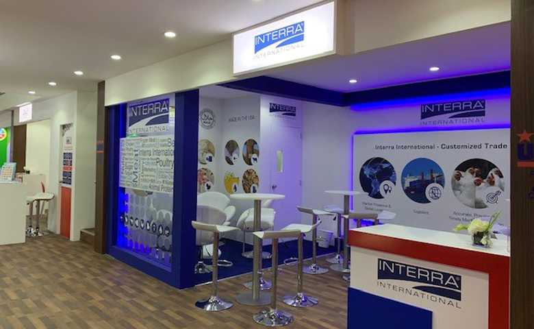 DWTC Dubai stand design built at Gulfood for Interra