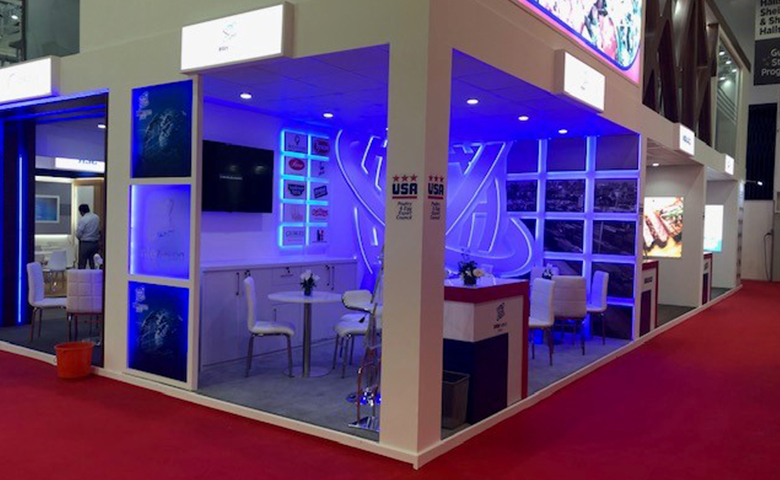 Dubai stand design and build for Intervision at Gulfood exhibition