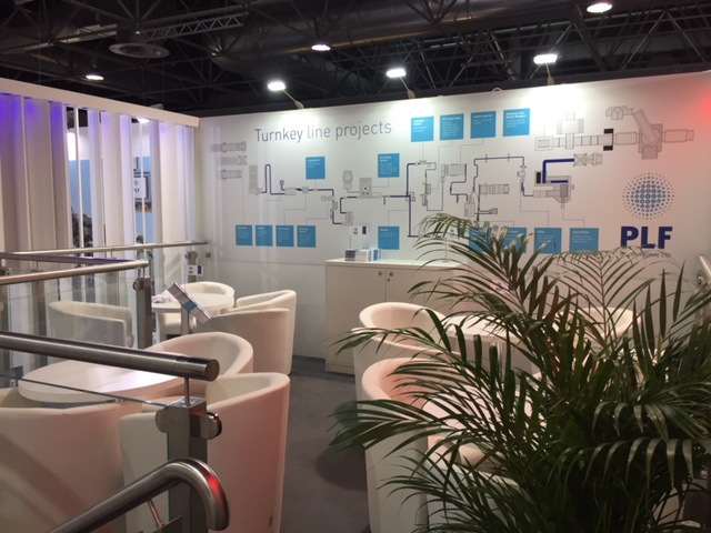 Exhibition stall at Interpack Trade Show - Dusseldorf Messe, Germany