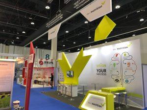 Exhibition booth for EW Nutrition at VIV MEA 2018 ADNEC Abu Dhabi UAE