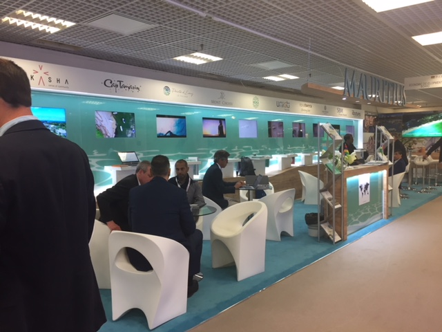 Exhibition booth design and build for Mauritius at MIPIM - Palais des Festivals, Cannes France