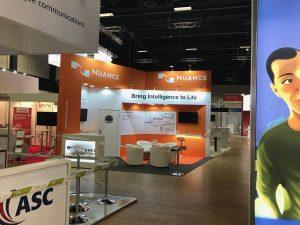 Custom built exhibition booth at the CCW Tradeshow Estrel Congress Centre - Berlin, Germany