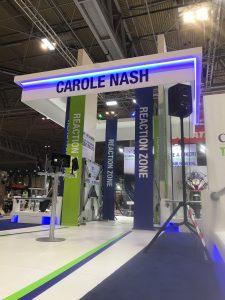 Bespoke exhibition stand for Carole Nash at Motorcycle Live NEC Birmingham UK