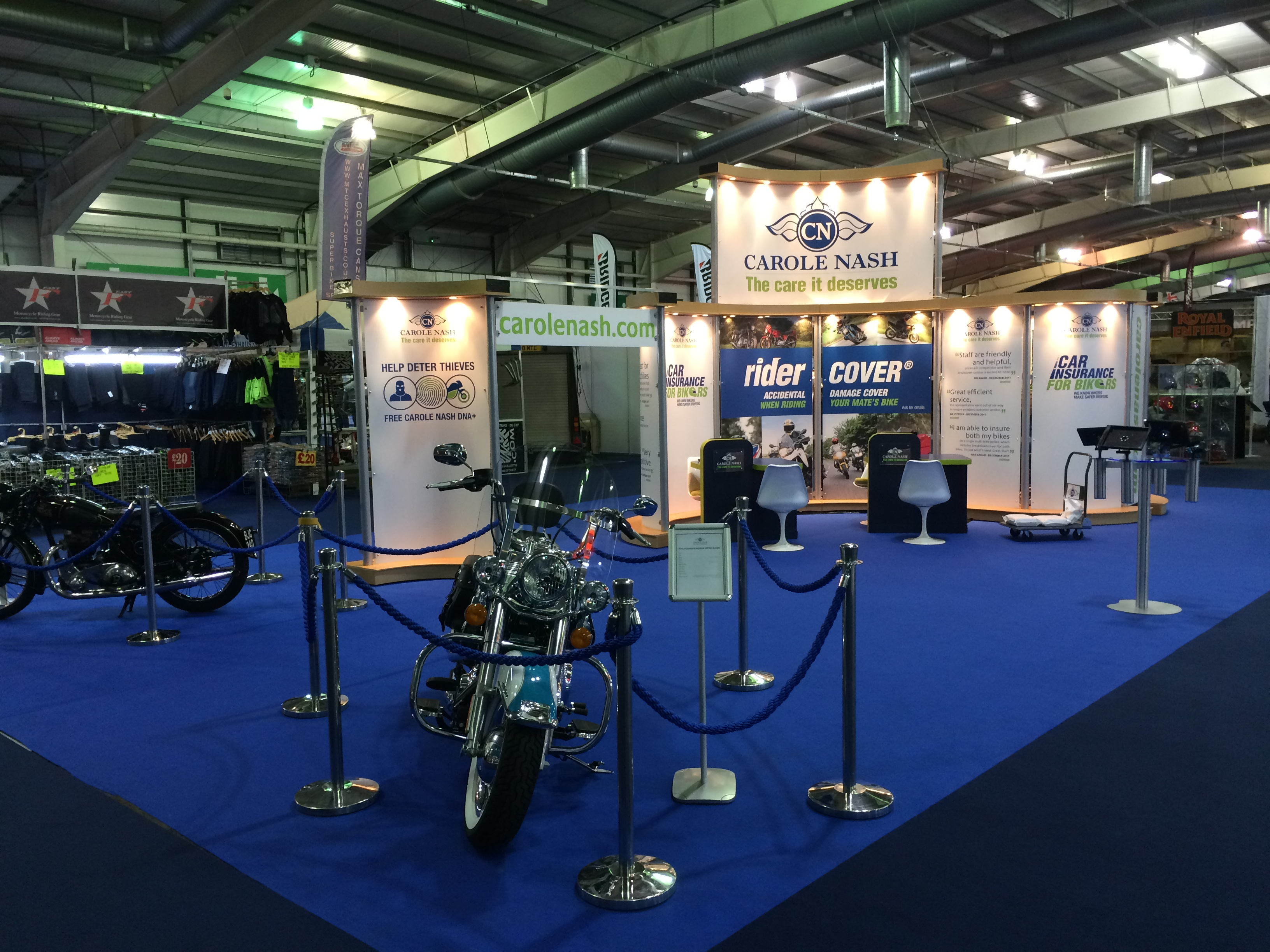 Bespoke exhibition stand design and build at MCN Scotland - Royal Highland Centre, Edinburgh