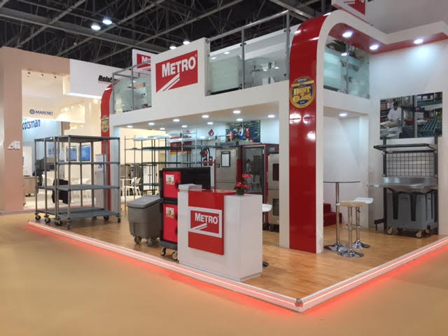 Custom built booth for Metro at Gulfhost exhibition Dubai World Trade Centre