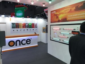 Exhibition stand design Bangkok BITEC for Once Inc