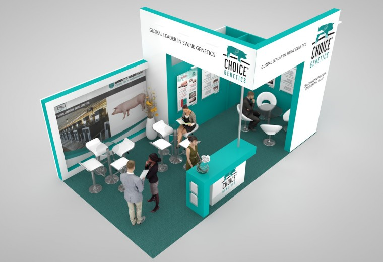 Exhibition stand design for the Eurotier Tradeshow