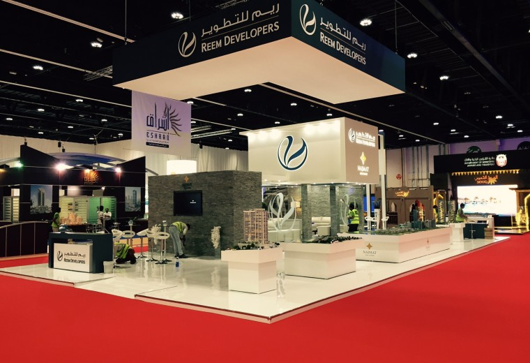 Exhibition stand built at the Abu Dhabi National Exhibition Centre UAE