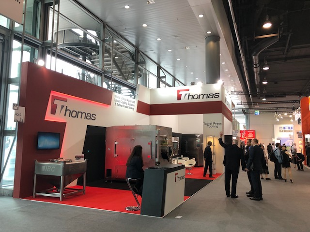 Bespoke exhibition stand for Thomas Engineering at Achema 2018 Frankfurt Messe, Germany