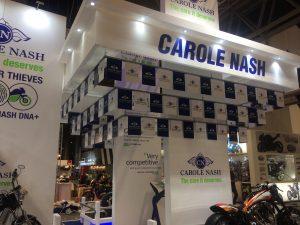 Trade show exhibit for Carole Nash Motorcycle Live 2017 NEC Birmingham