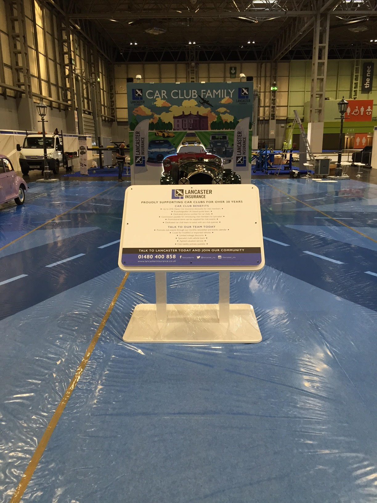 Exhibition stand for Lancaster Insurance Classic Car Show 2017 NEC