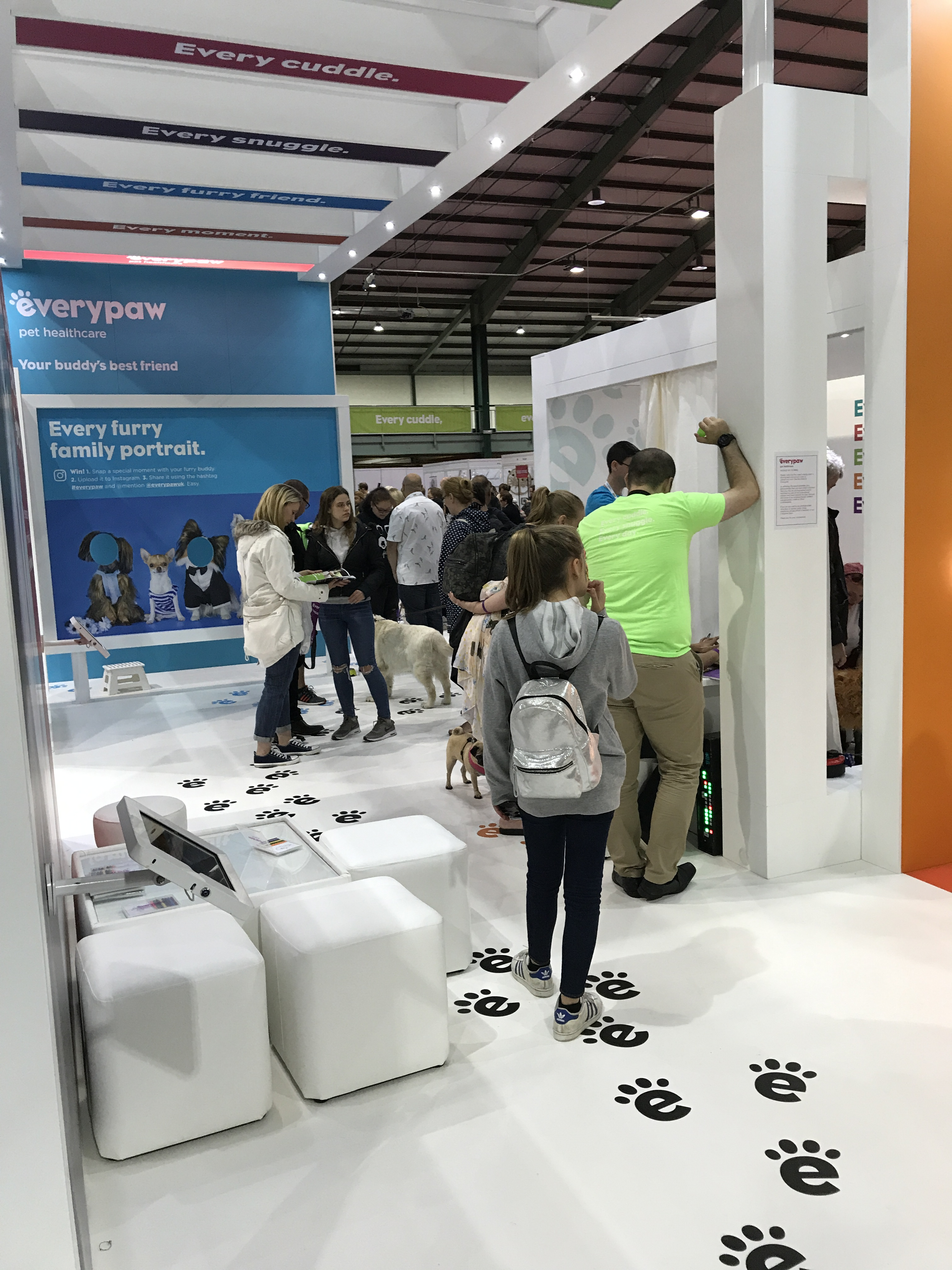 Bespoke exhibition stand The Pet Show 2017 Staffordshire, UK