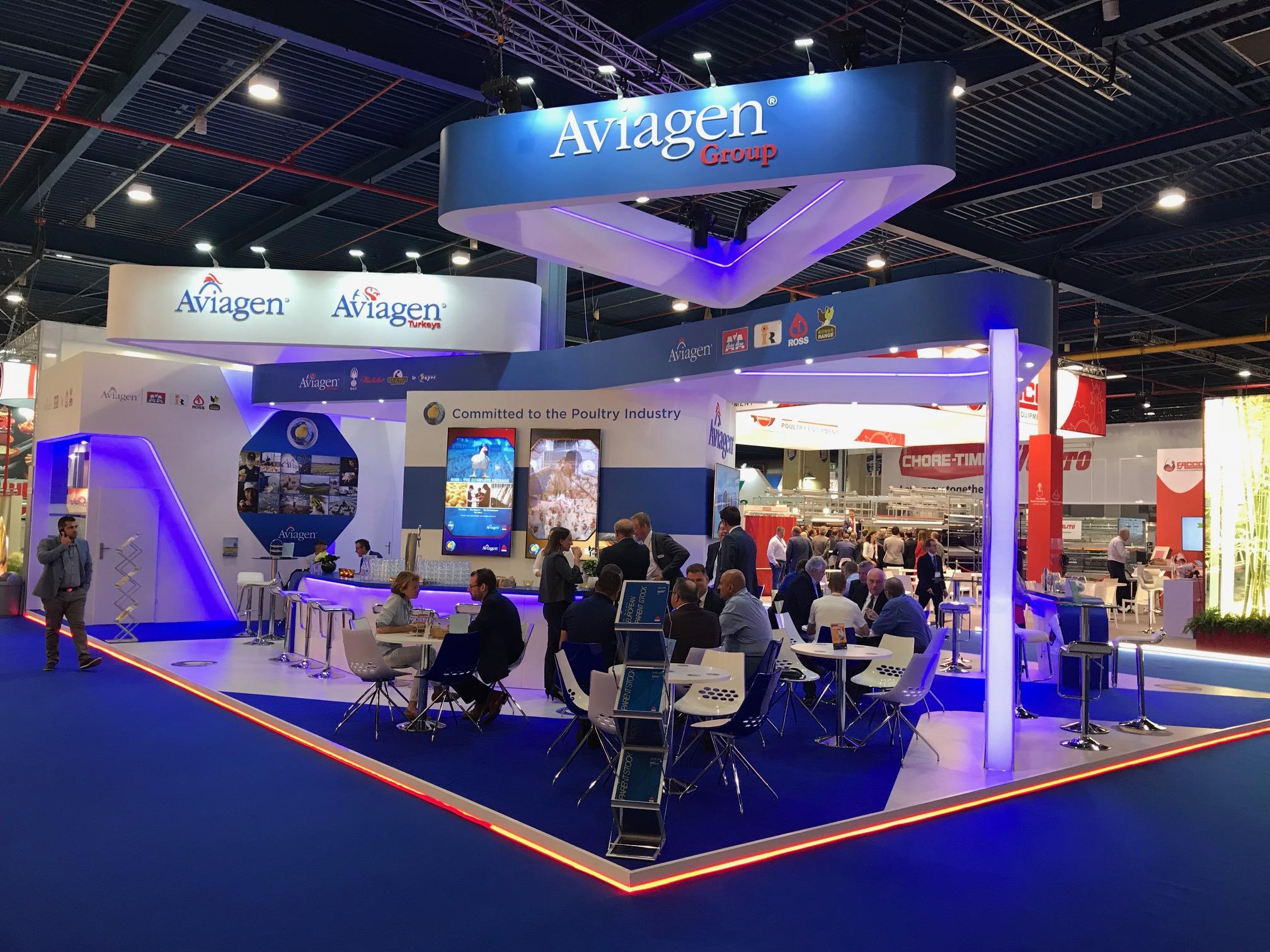 Aviagen at VIV Europe 2018 Utrecht bespoke exhibition stand design and build
