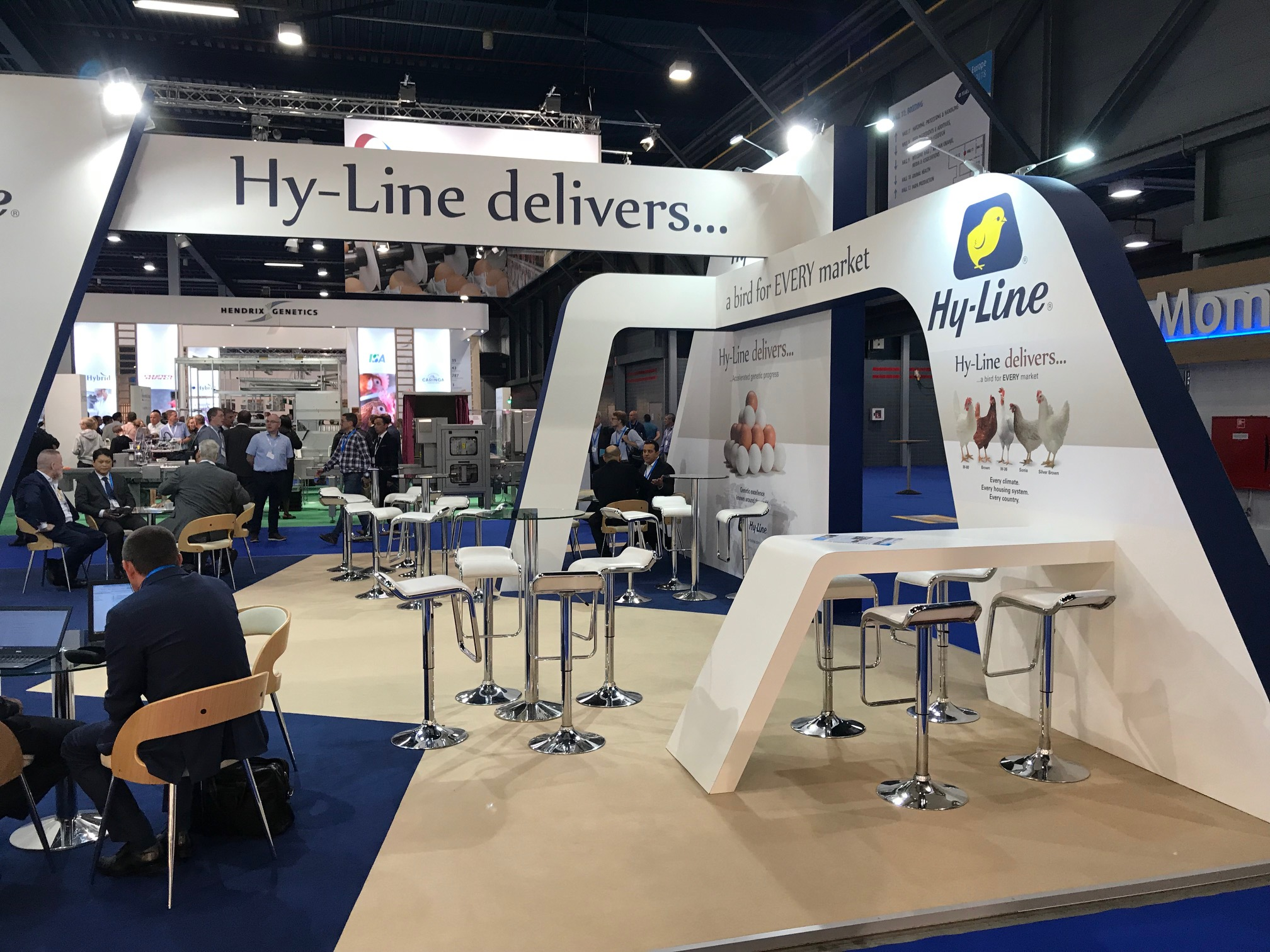Hy-Line at VIV Europe 2018 Utrecht bespoke exhibition stand design and build