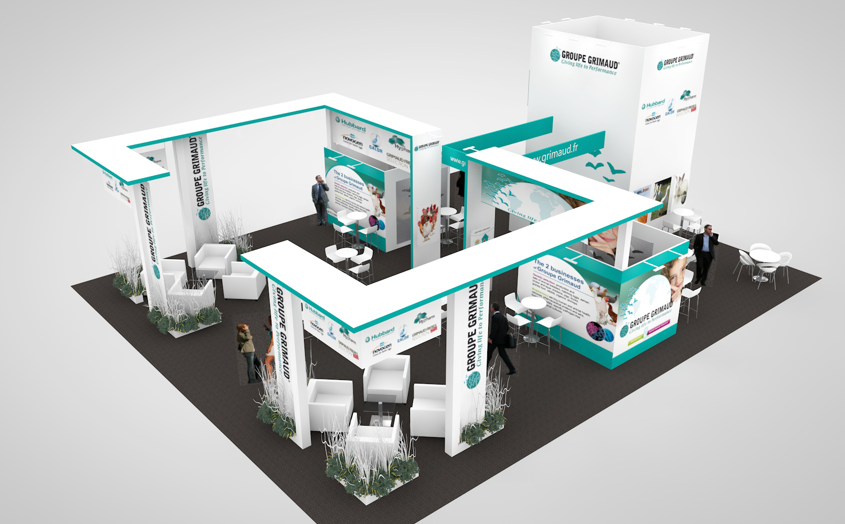 Exhibition stand design for Groupe Grimaud's European Exhibition Programme