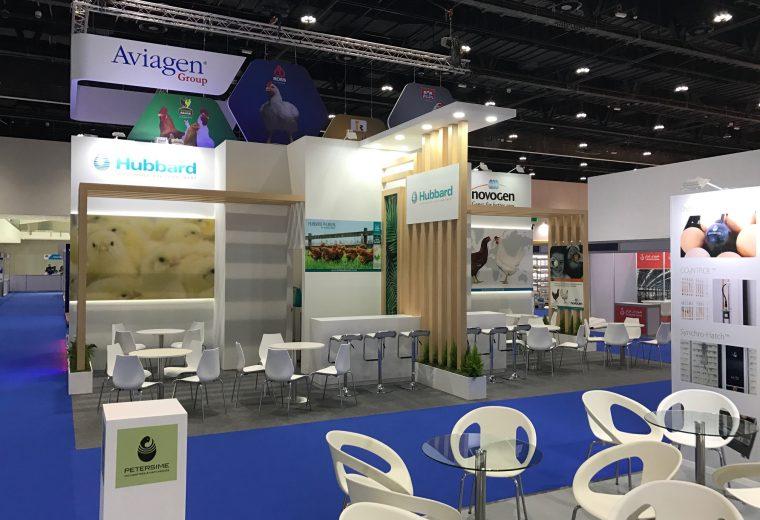 Bespoke exhibition stands at VIV MEA 2018 ADNEC Abu Dhabi UAE
