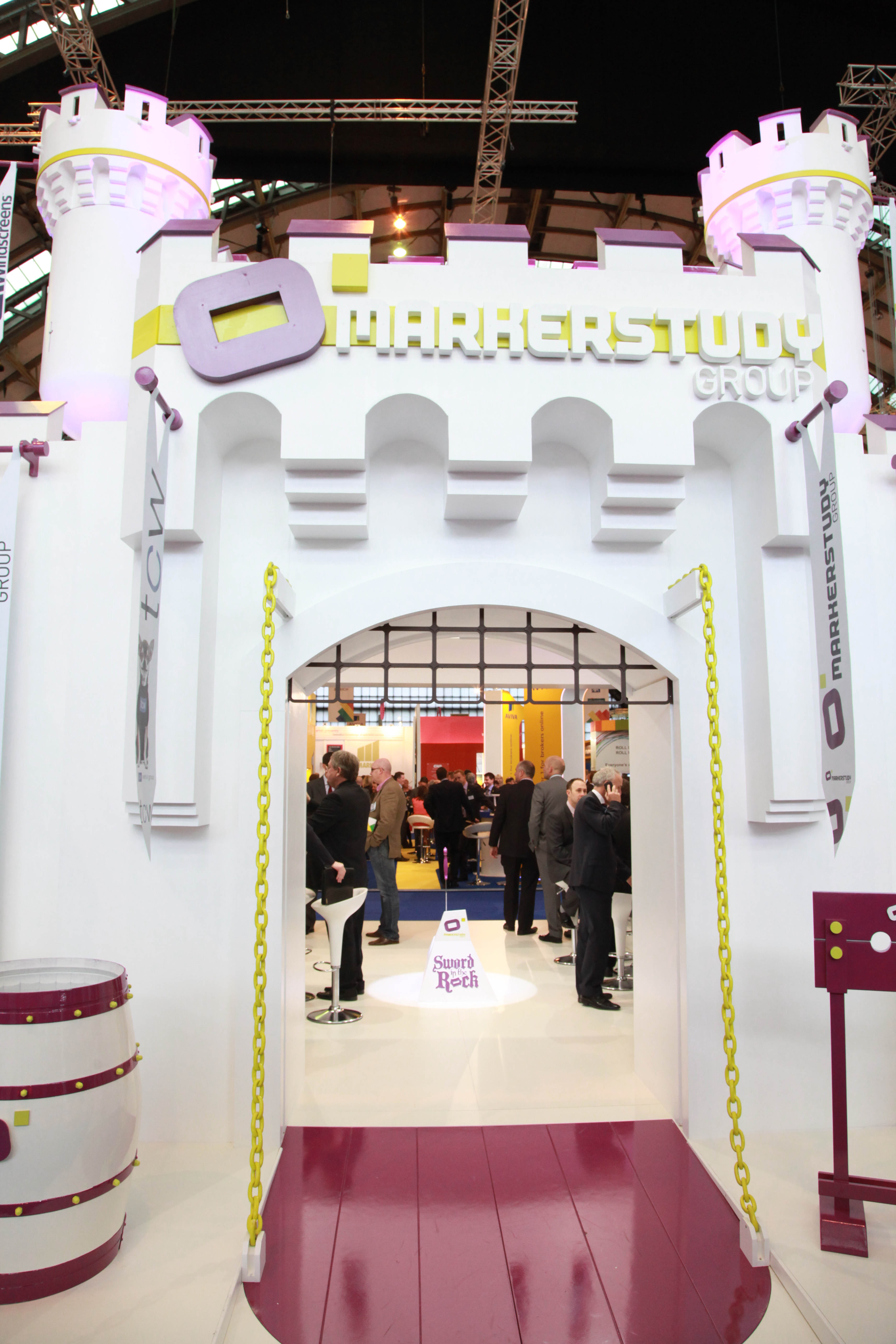 """""""Front gate of custom exhibition stand for Marker Study at BIBA 2012"""""""