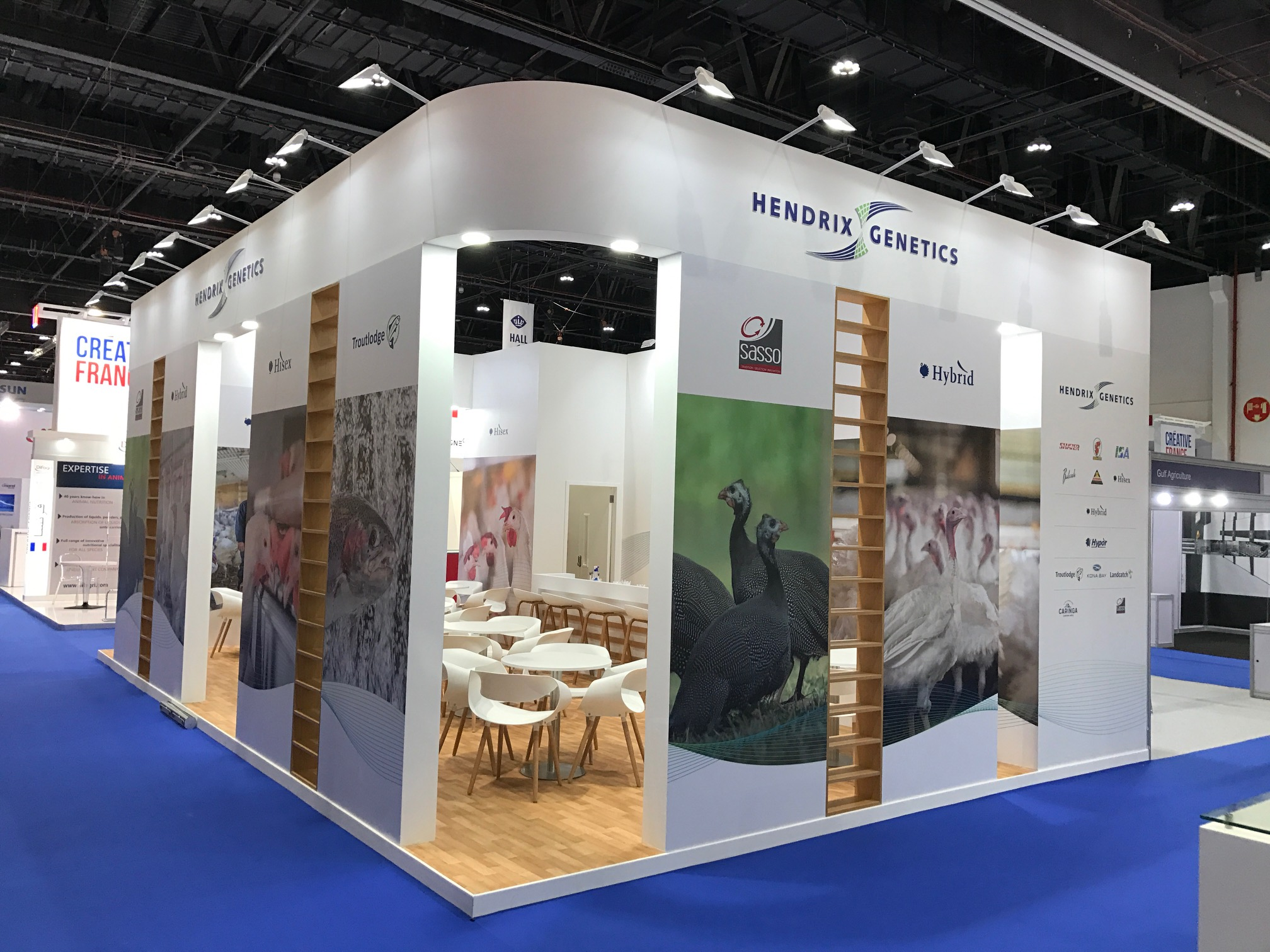 Exhibition booth for Hendrix at VIV MEA 2018 ADNEC UAE