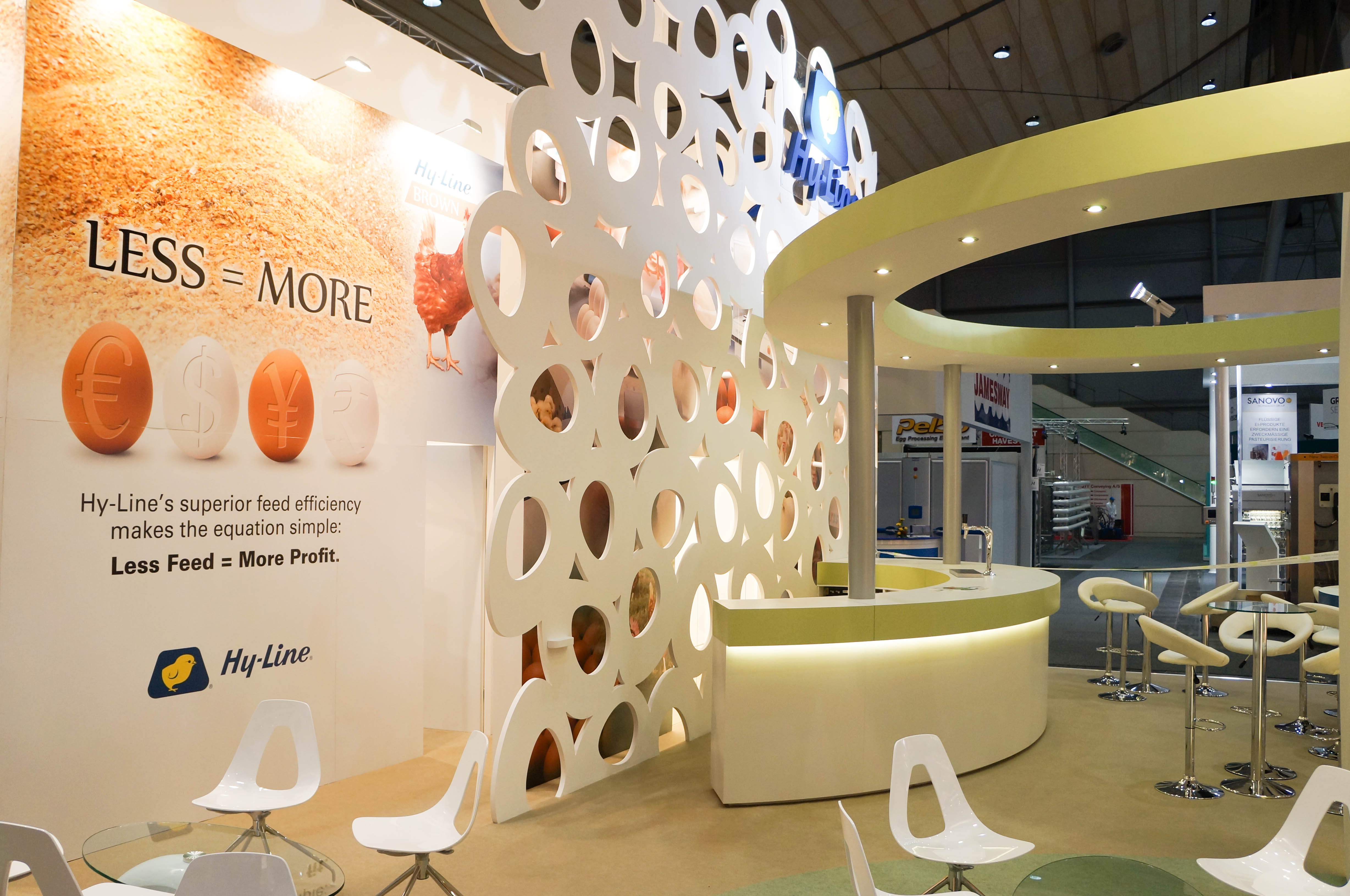 """""""Hy-Line rear wall and bar on custom exhibition stand"""""""