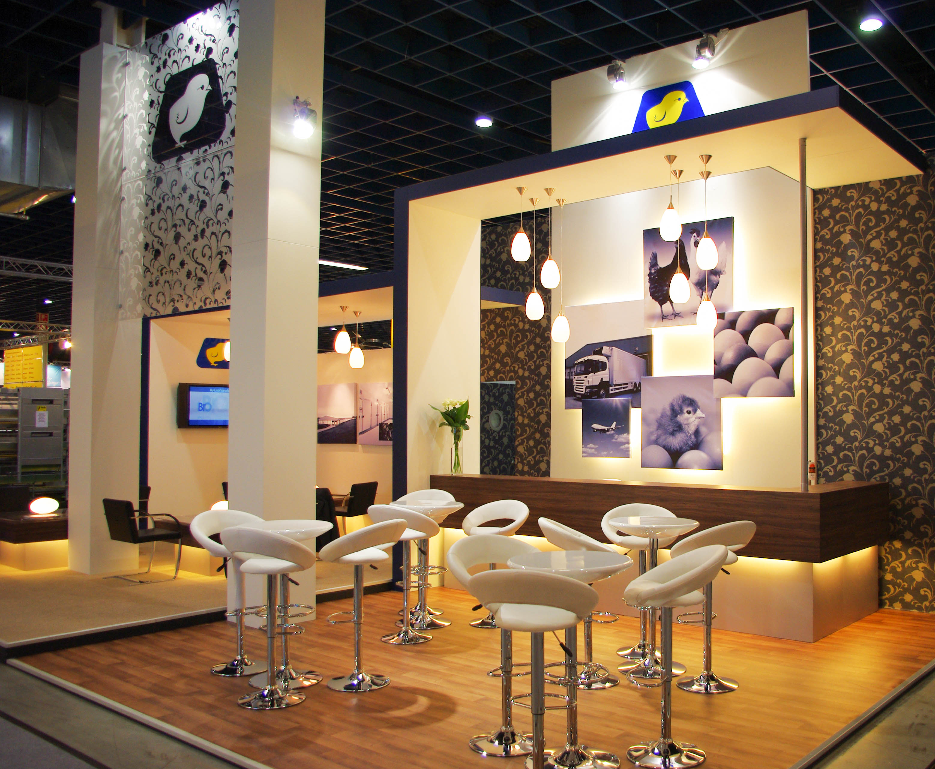 """""""Front angle of Hy-Line exhibition stand"""""""