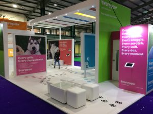 Fun and engaging custom built stand The Pet Show 2017, Staffordshire