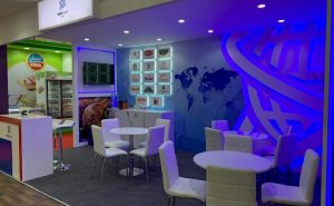 Intervision Trade show booth design at DWTC Gulfood UAE