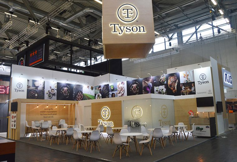 Koelnmesse Cologne stand design and build at Anuga for Tyson Foods