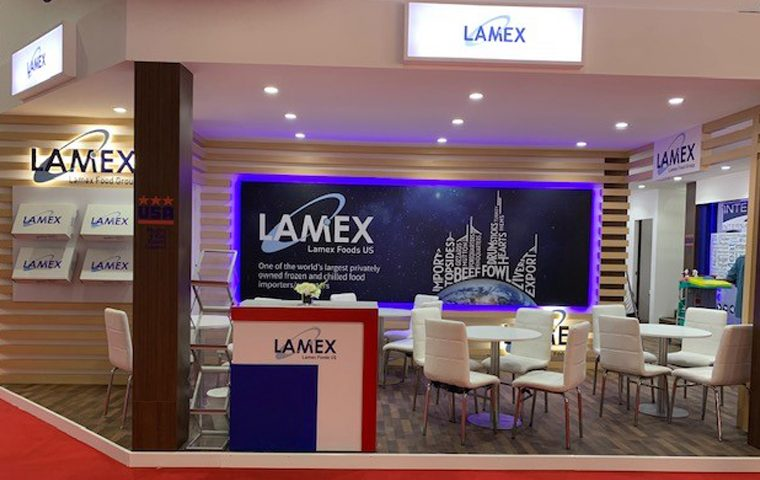 Lamex Stand design and build at Gulfood DWTC