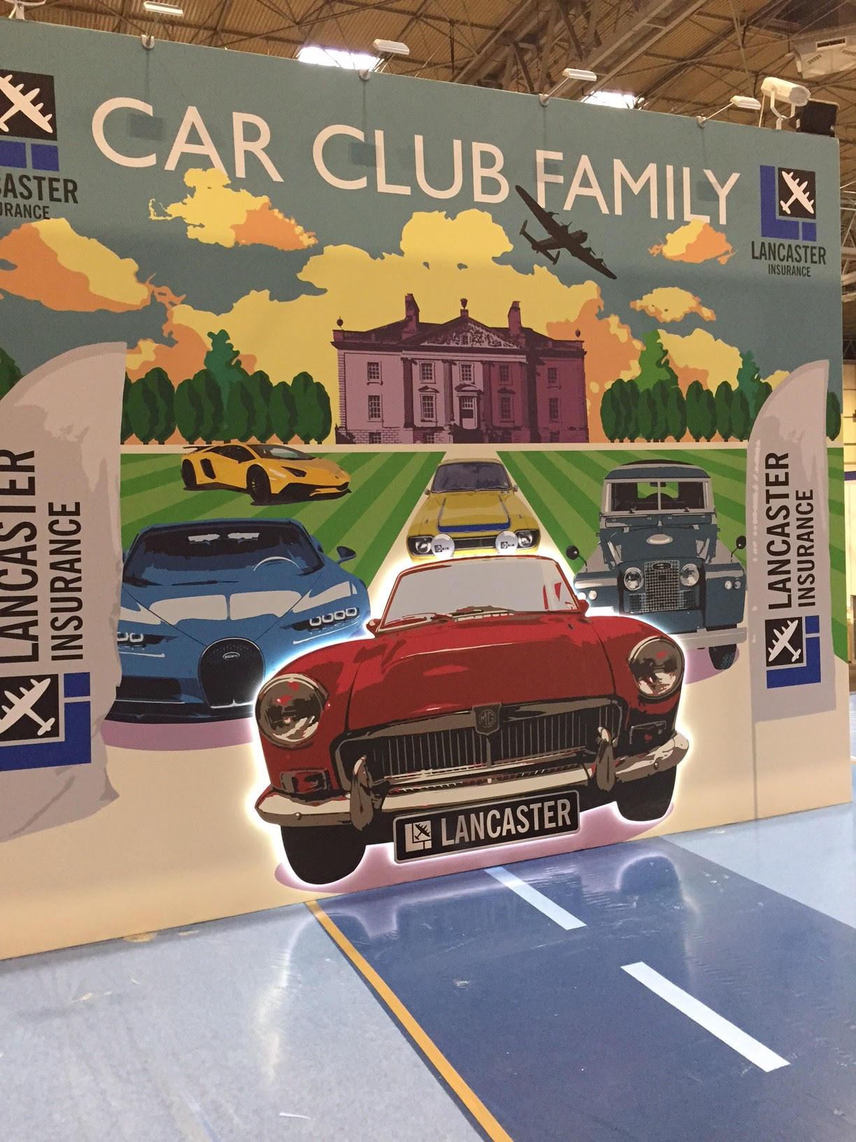 Exhibition stand design and build for Lancaster Insurance NEC Birmingham UK
