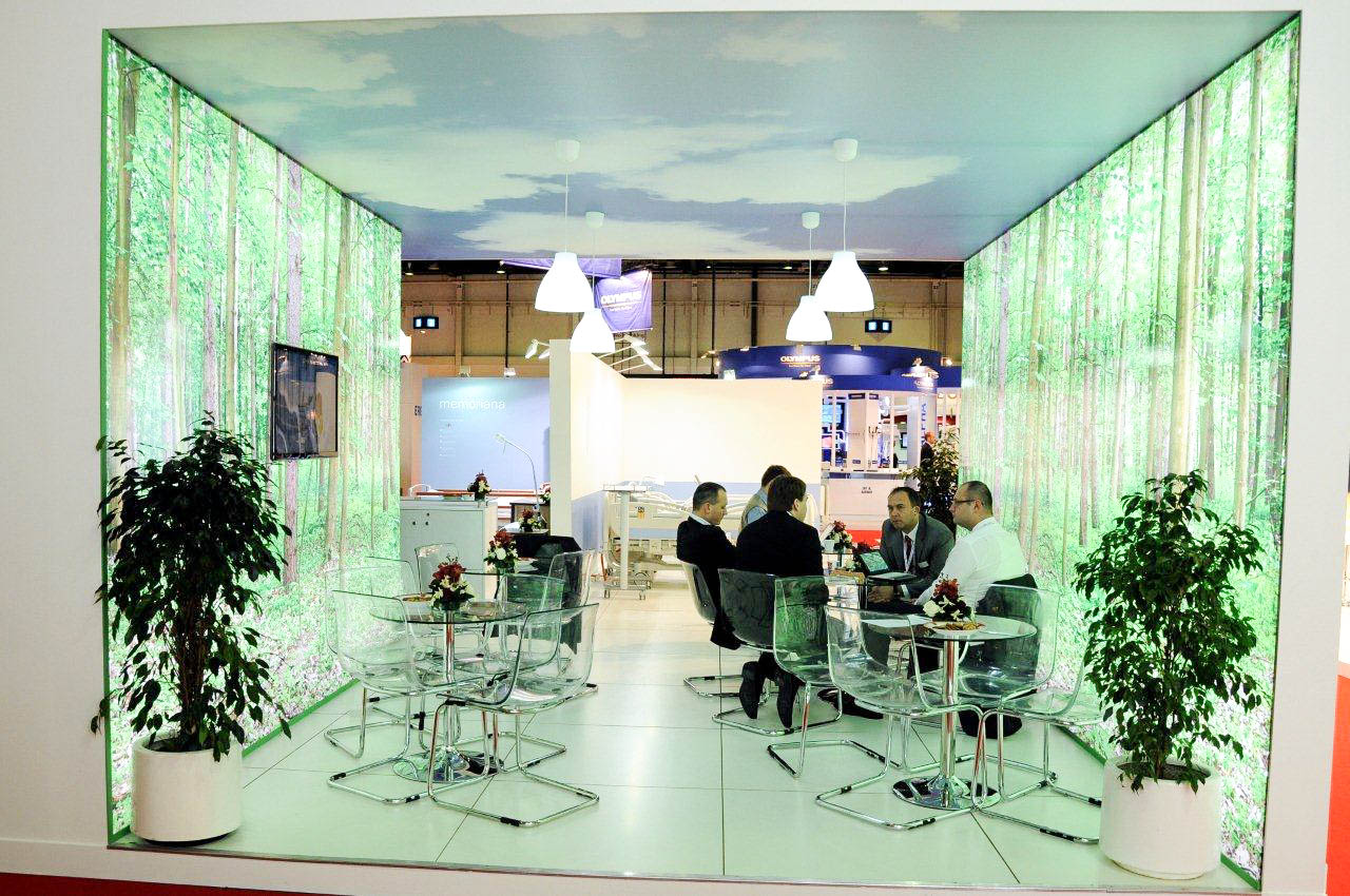 """""""Meeting area on Linet stand at Arab Health"""""""