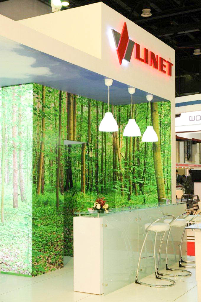 """""""Bar and woodland back drop on Linet stand"""""""