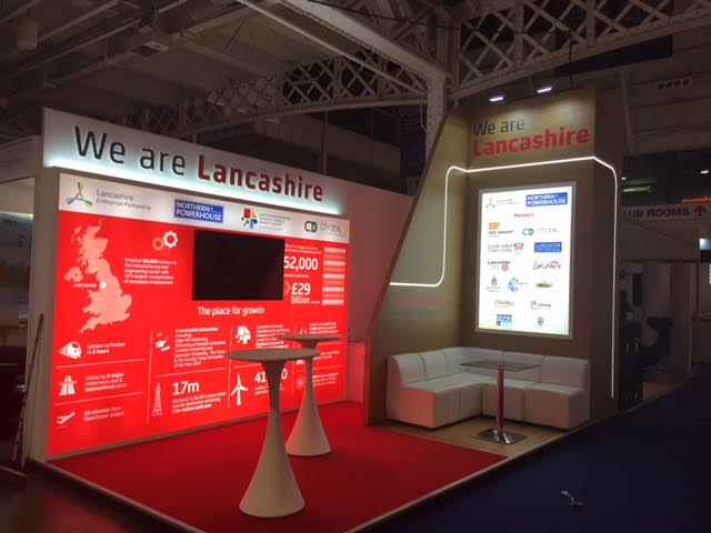 Bespoke exhibition stand for Marketing Lancaster at MIPIM UK 2017 Olympia London