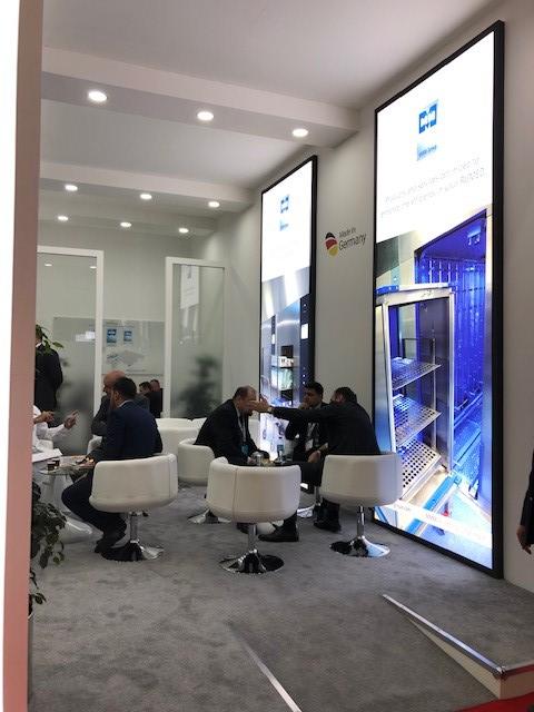MMM Custom built trade show stand at DWTC in Dubai UAE