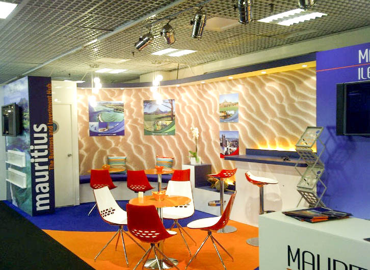 """""""Seating on Mauritius exhibition stand at MIPIM"""""""
