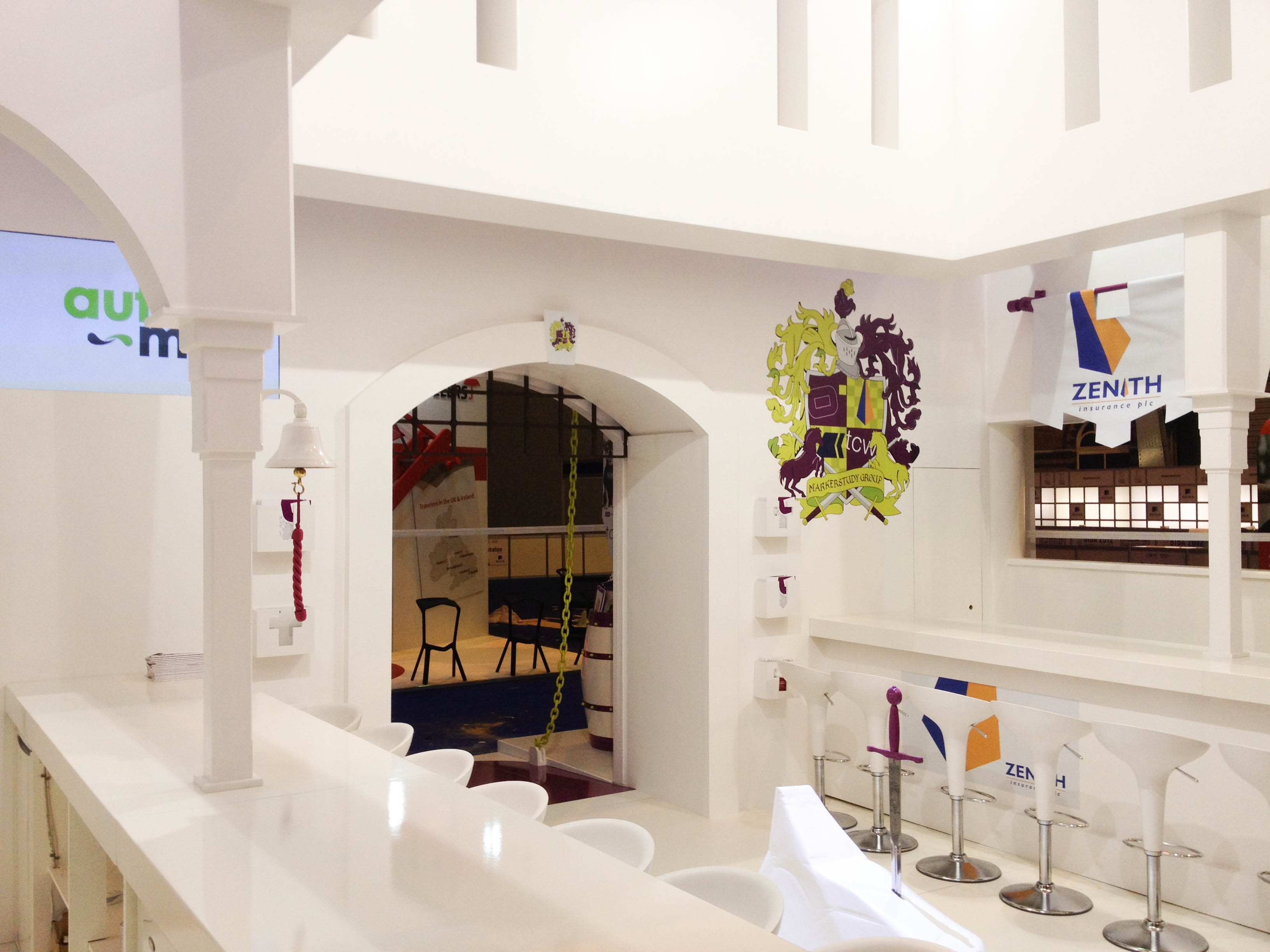 """Inside Marker Study castle at BIBA 2012"""