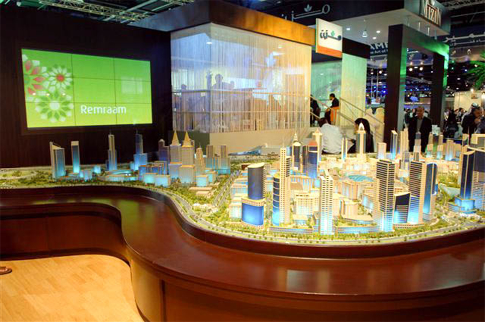 """""""Development model on the Exhibition stand for Mizin at Cityscape"""""""