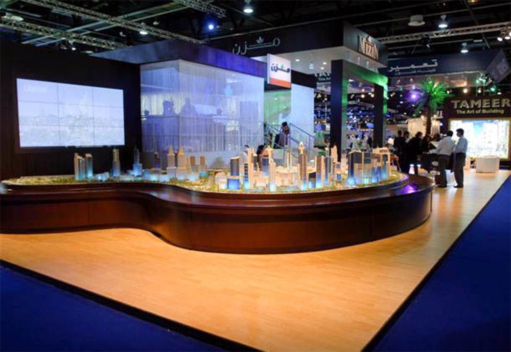 """Development model on the Exhibition stand for Mizin at Cityscape"""