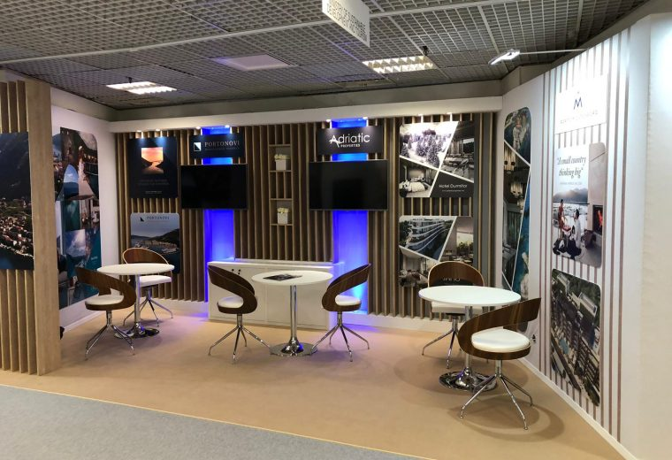 Montenegro Custom built stand MIPIM Cannes France