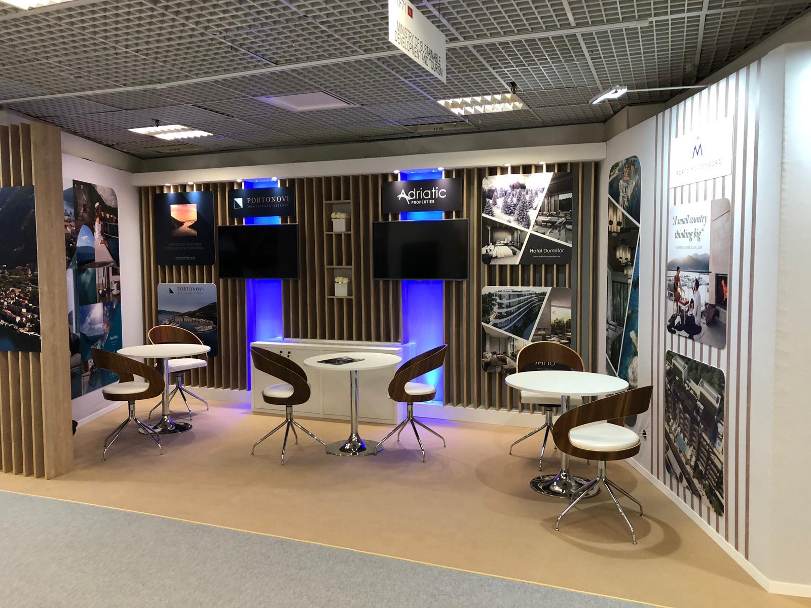 Montenegro Custom built stand MIPIM Cannes France