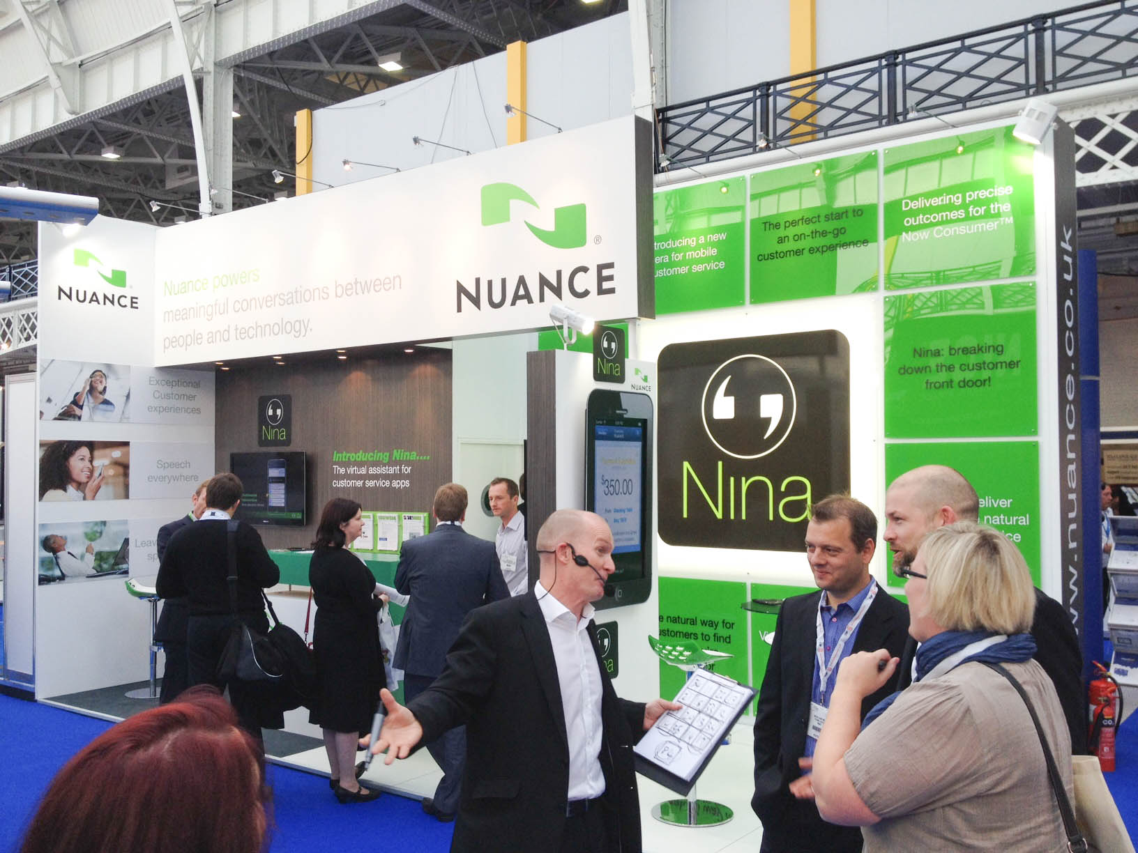 """""""Exhibitions stand for Nuance at CC Expo 2012 crowd"""""""