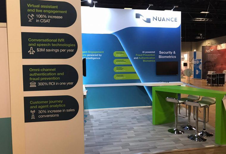 Nuance Trade show booth design at Estrel for CCW Exhibition in Berlin Germany