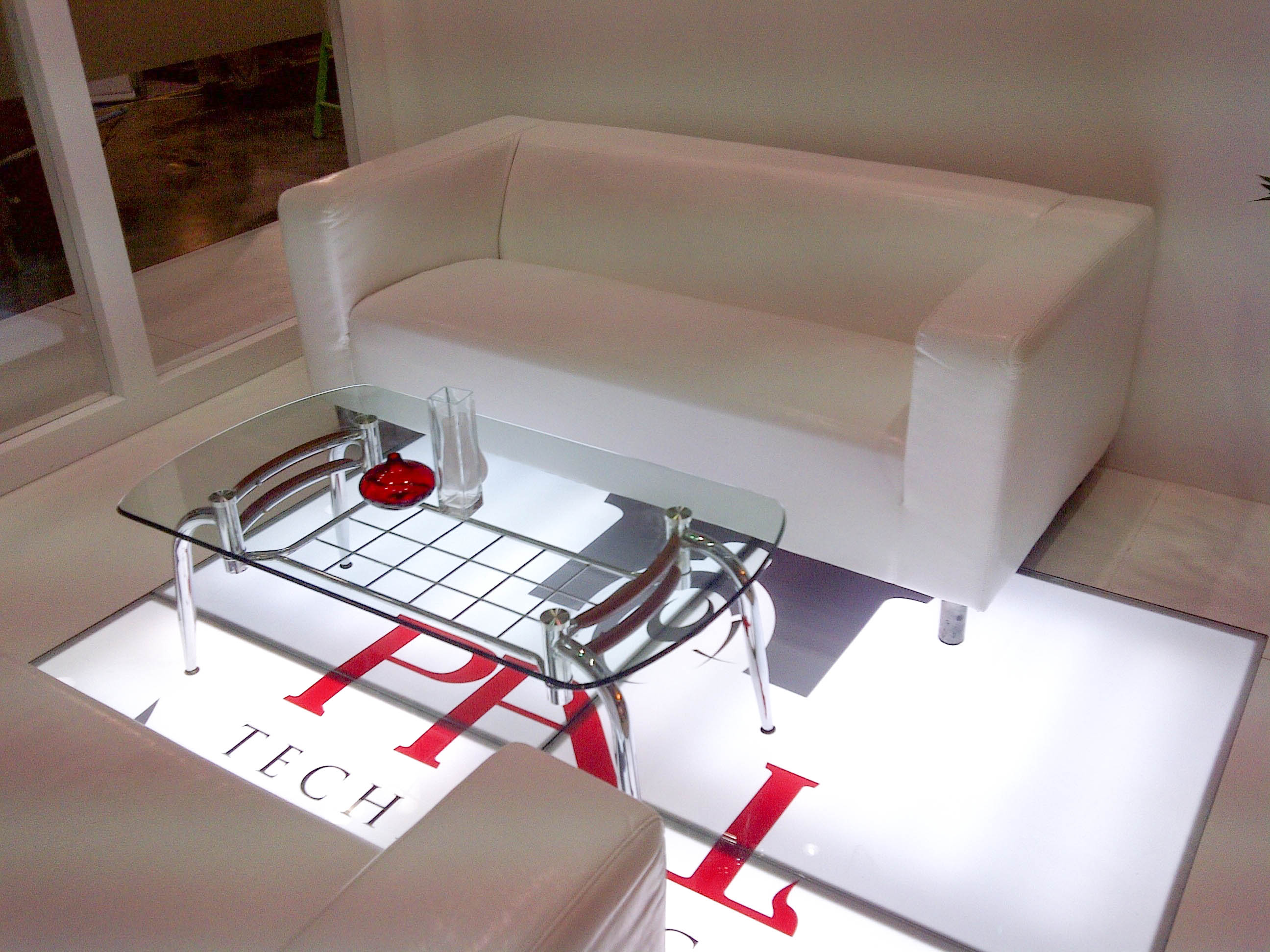 """""""Lounge on PAL Tech exhibition stand at Arab Construction"""""""
